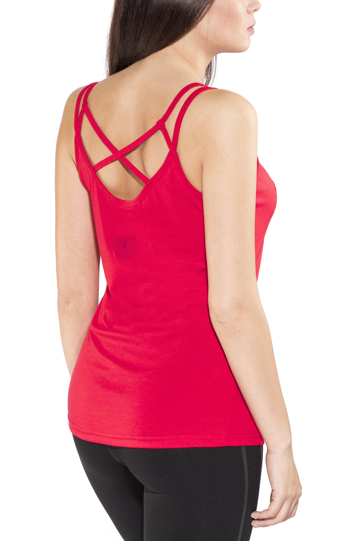 Bergans Cecilie Wool Singlet Damen bougainvillea melange//strawberry 2018 Shirt